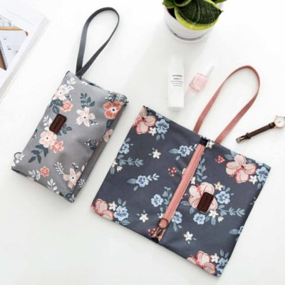 Natura Wristlet Travel Pouch Cosmetics Makeup Beauty Accessories Charger Digital Phone Bag Style Degree Sg Singapore