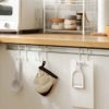 Cabinet Hanging Hooks (2pc Set) Kitchen Hook Spatula pots pans hand towel style degree sg singapore