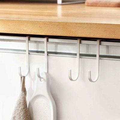 Cabinet Hanging Hooks (2pc Set) Kitchen Hook Spatula pots pans hand towel style degree sg singapore