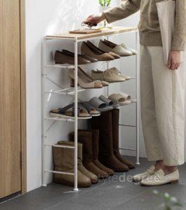 The Scandinavian Shoe Rack Shoes Racks Shoe Organizer Organiser Storage Box Slippers Heels Living Home Decor Entryway Style Degree Sg Singapore