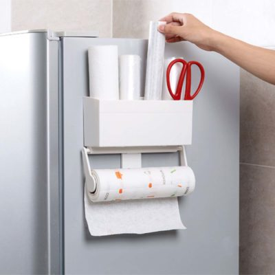 Magnetic Kitchen Towel Fridge Holder Holders Tissue Organizer Organiser Style Degree sg Singapore