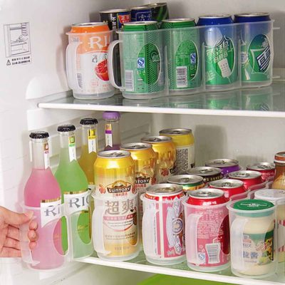 Clear Can Drinks Organizer Canned Drink Organiser Holders Refrigerator Container Style Degree Sg Singapore