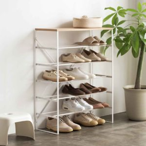 The Scandinavian Shoe Rack Shoes Racks Shoe Organizer Organiser Storage Box Slippers Heels Living Home Decor Style Degree Sg Singapore
