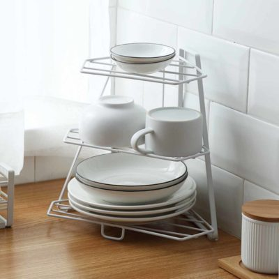 Pyramid Dinnerware Organizer Rack Dining Ware Plates Bowls Kitchen Cabinet Holder Stand Style Degree Sg Singapore