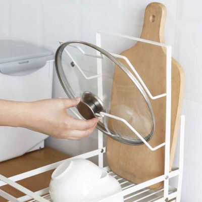 Grande 3-in-1 Dish Drainer Rack Organizer Pot Lid Chopping Board Holder Kitchen Style Degree Sg Singapore