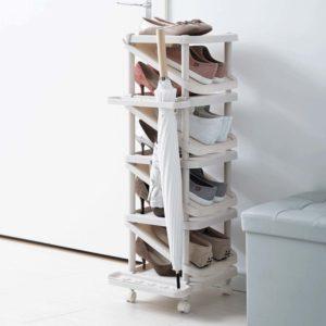 Ascend Shoe Rack (Slim Design) Racks With Roller Wheels Organizer Footwear Organiser Storage Slippers Style Degree Sg Singapore