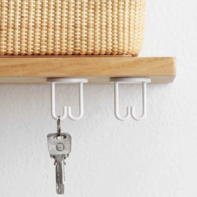 Keys & Accessories Hanging Holder (2pc Set) Holders Hanger Hangers Hooks Kitchen Bathroom Toilet Organizer Organiser Style Degree Sg Singapore