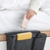 Bedside Pocket Organizer Sofa Pouch Magazine Organiser Bed Phone Holder Home Decor Style Degree Sg Singapore