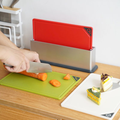 Trio Multi Chopping Board (With Holder) Cutting Board Stand Kitchen Style Degree Sg Singapore