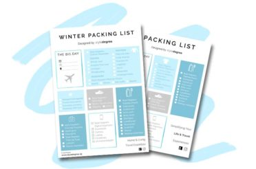 Winter & Summer Travel Packing List (Free Download)
