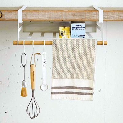 Scandinavian Cabinet Overhead Holder (With Hooks) Kitchen Dining Accessories Utensils Holder Hangers Organizer Organiser Style Degree Sg Singapore