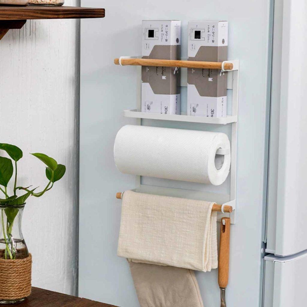 Scandinavian Magnetic Fridge Holder Holders Refrigerator Wall Organizer Organiser Style Degree Sg Singapore