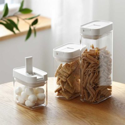 Staples & Snacks Airtight Container Pasta Potato Chips Snack Box Kitchen Style Degree Sg Singapore