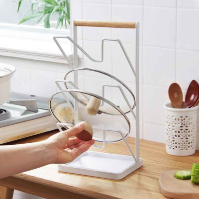 Scandinavian Triple Layer Lid Holder Holders Chopping Board Kitchen Organizer Organiser Style Degree Sg Singapore