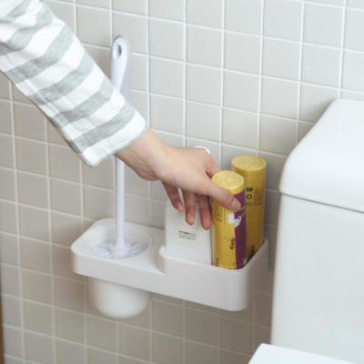 Scrub & Toiletries Bathroom Wall Holder Toilet Bowl Scrubber Toilet Brush Organizer Organiser Style Degree Sg Singapore