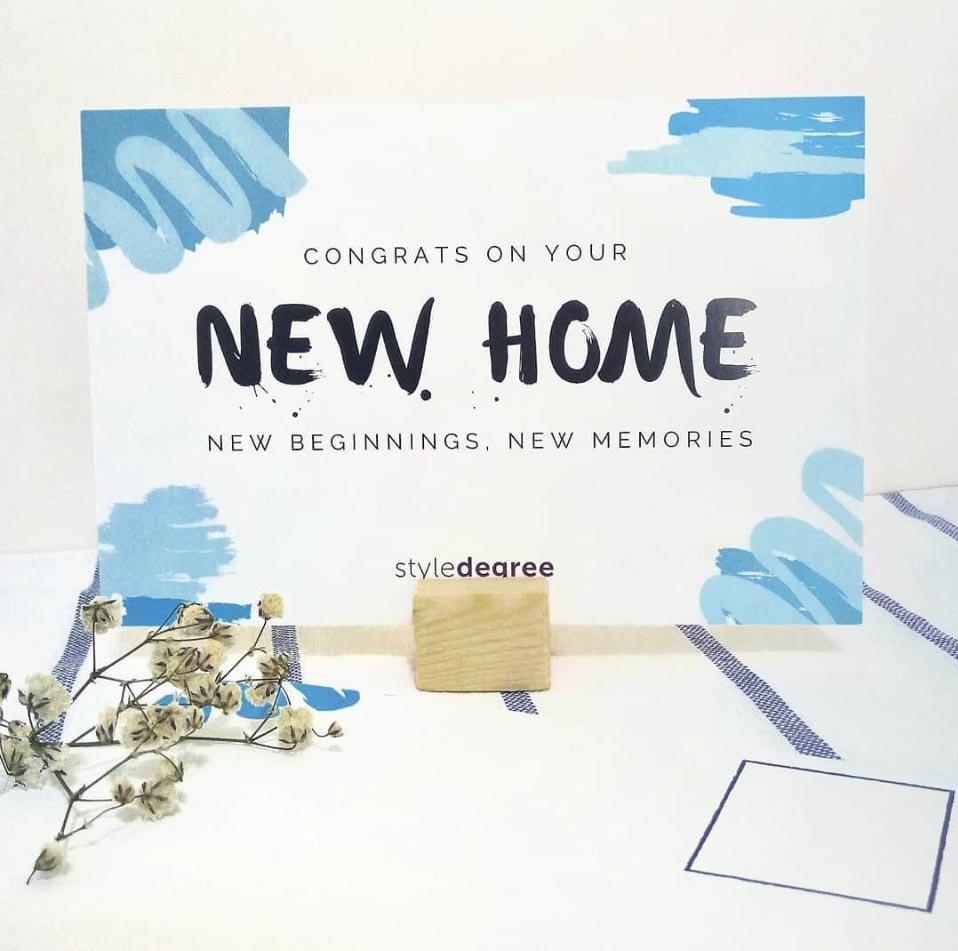 Happiness Is Home Postcard Set Housewarming gift set, housewarming gift ideas, housewarming gifts, style degree, singapore sg
