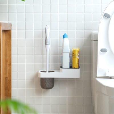 Scrub & Toiletries Bathroom Wall Holder Toilet Bowl Scrubber Toilet Brush Organizer Organiser Style Degree Sg Singapore