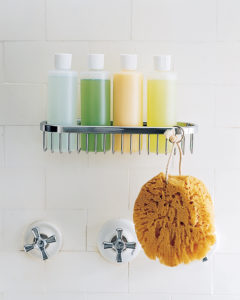 decanting shampoo and shower gel into uniform bottles, small bathroom organization ideas, bathroom organization hacks, creative bathroom storage ideas, Style Degree, Singapore, SG, StyleMag.