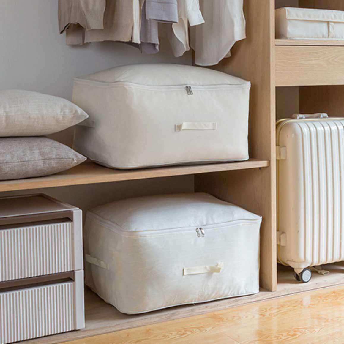 Canvas Quilt Clothes Storage Bag