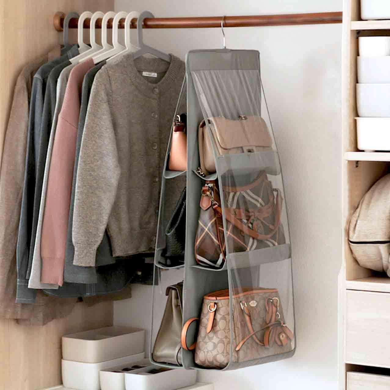 Walk-in Wardrobe Closet Organization Ideas For HDB & Condo Singapore Homes Purse & Handbag Closet Organizer Organizers Slim Bags Organiser Holder Style Degree Sg Singapore