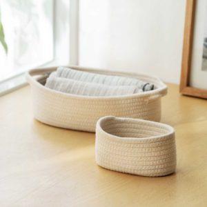 Weaver Basket Organizer Desk Table Organiser Holder Storage Box Living Room Style Degree Sg Singapore