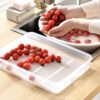 Basic Fridge Container (With Drainer) Food Containers Refrigerator Organizer Organiser Holders Food Storage Box Style Degree Sg Singapore