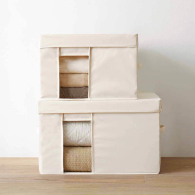 Canvas Clear Storage Box Keeping Bed Sheets Blankets Organizer Organiser Style Degree Sg Singapore