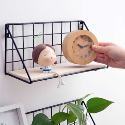 Rustic Bracket Wall Shelf Shelves Holders Organizer Organiser Living Room Decorations Style Degree Sg Singapore