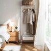 The Scandinavian Movable Open Wardrobe Wardrobes Closet Organizer Organiser Style Degree Sg Singapore