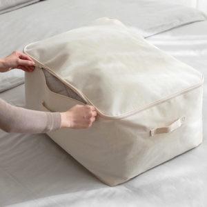 Canvas Quilt Clothes Storage Bag Box Closet Wardrobe Bedding Solution Style Degree Sg Singapore