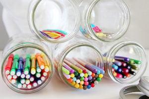 how to organize stationeries, mason jar organizer, DIY hacks for organizing stationeries, Style Degree, Singapore, SG, StyleMag.