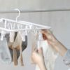 Daylight Foldable Drying Hanger (18 Clips) Socks Undergarment Laundry Drip Hanger Dryer Style Degree Sg Singapore