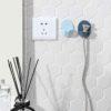 Pastel Power Plug Wall Holder (2pc Set) Socket Plug Wall Adhesive Organizer Organiser Style Degree Sg Singapore