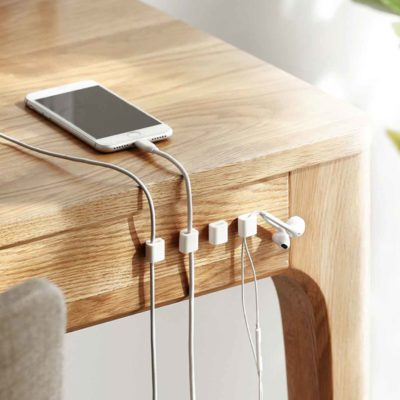 Deskly Cable Mangement Clip (8pc Set) Cord Organizer Organiser Cable Catcher USB wire desk wall table Style Degree Sg Singapore