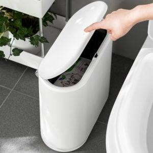 Futura Slim Dustbin Dustbins Garbage Rubbish Bins Bin Chute Trash Can Cleaning Style Degree Sg Singapore