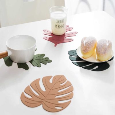 Autumn Leaves Dining Coaster (4pc Set) Table Coaster Mat Heatproof Style Degree Sg Singapore