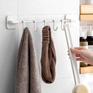 Luxe Wall Hanger & Hooks Kitchen Bathroom Toilet Wall Holder Hook Style Degree Sg Singapore