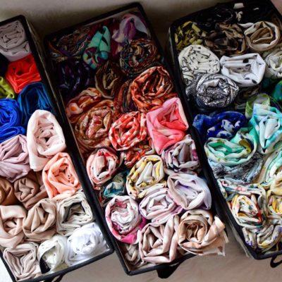 how to organize hijabs, organizing scarves, scarves organization ideas, hijab storage ideas, Style Degree, Singapore, SG, StyleMag.