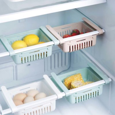 Extendable Fridge Sliding Organizer Organizers Storage Organiser Kitchen Food Holders Containers Style Degree Sg Singapore
