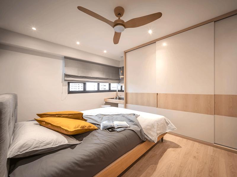 Scandinavian home interior bedroom design singapore, sg