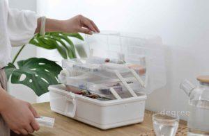 3-Tier First Aid Medicine Box Medical Organizer Art Box Supplies Style Degree Sg Singapore