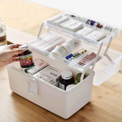 3-Tier First Aid Medicine Box Medical Organizer Art Box Supplies Style Degree Sg Singapore