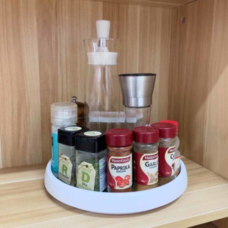 Lazy Susan Turntable Rotating table Singapore sg, kitchen organization, organisation, herbs and spices holder, condiment holder, style degree