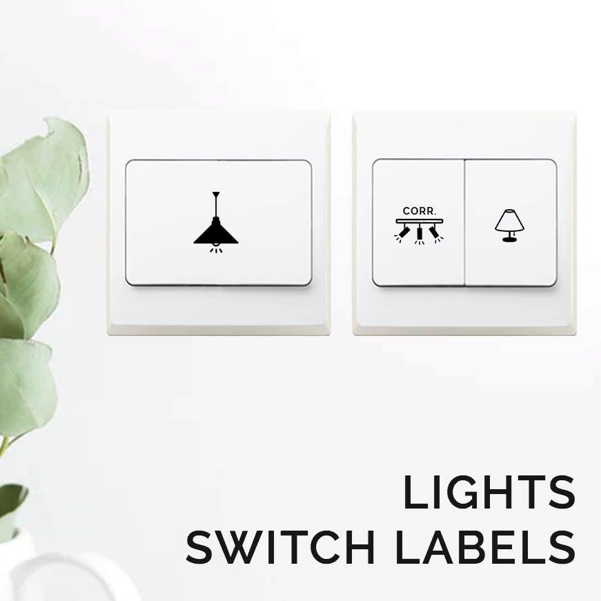 Lights Switch Sticker Labels