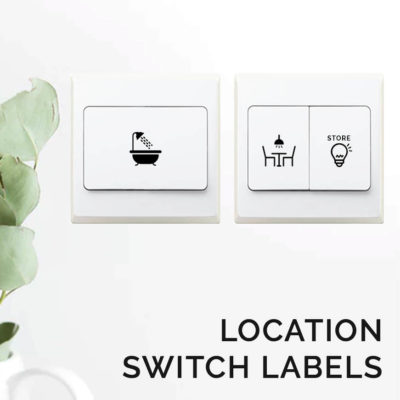Location Switch Sticker Labels Light Stickers Style Degree Sg Singapore