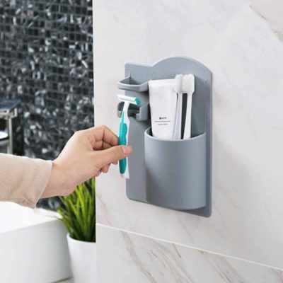 Magic Toiletries Wall Organizer Bathroom Toothbrush Toothpaste Holder Style Degree Sg Singapore