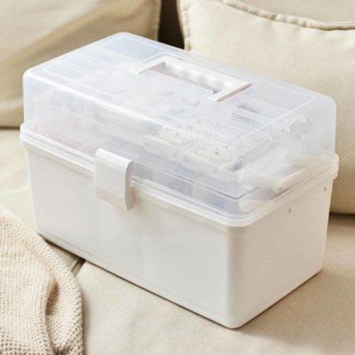 3-Tier First Aid Medicine Box