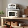 2-Tier Microwave Kitchen Rack Storage Countertop Shelf Toaster Style Degree Sg Singapore