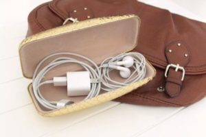 Store cables in eyeglass case, how to organize wires for storage, how to pack cables and chargers, how to organize cables in bags, Style Degree, Singapore, SG, StyleMag.