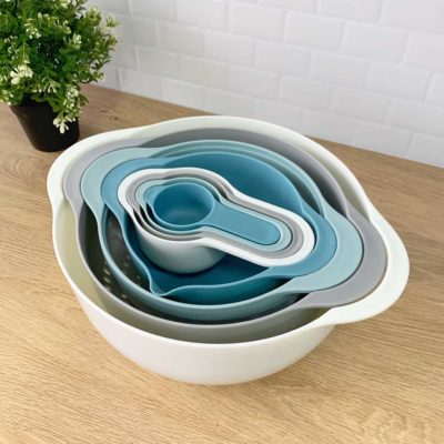 Multi-purpose Baking Mixing Bowl & Colander (8pc Set) Bakeware Bake Cooking Accessories Kitchen Style Degree Sg Singapore
